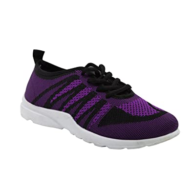 Modern Rush Funk Womens Lace Up Sporty Fashion Sneaker With Mesh Knit Breathable Upper  B06XHLK6M2