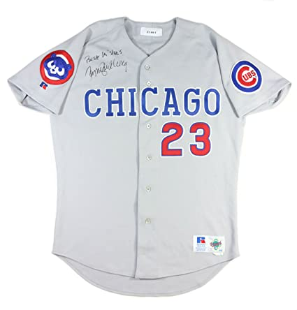 official photos 81731 369a7 authentic cubs 23 ryne sandberg grey road stitched youth mlb ...