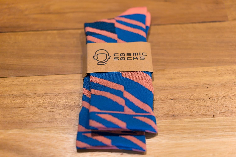 Cycling Socks size 6-11,Blue Orange Yellow Cosmic Socks 6 Naked ...