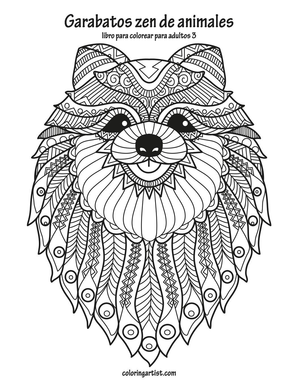 Amazoncom Garabatos Zen De Animales Libro Para Colorear Para