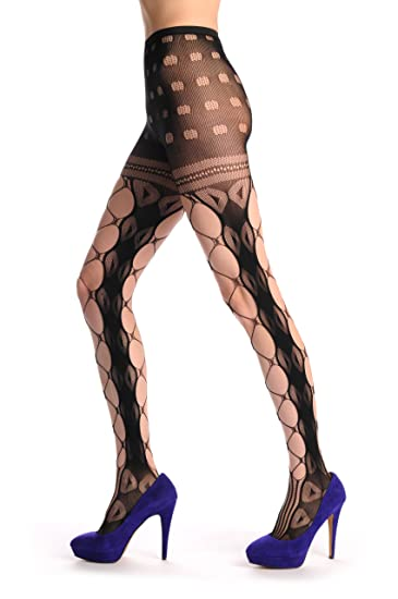 9406baed5ecaf Image Unavailable. Image not available for. Color: Mesh With Side Seam &  Lace Top Fishnet - Tights