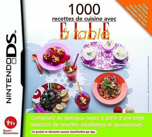 Nintendo 1000 Recettes De Cuisine Avec Elle A Table Ds Amazon