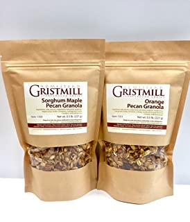 product image for Homestead Gristmill — Non-GMO, Chemical-Free, All-Natural Sorghum Maple Pecan Granola/ Orange Pecan Granola (2 Pack)