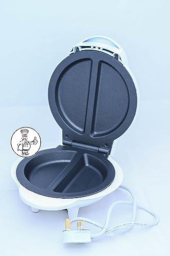 800-1000W Electric Non Stick Omelette Maker Frying Pan Egg Cooker Breakfast Black (White)
