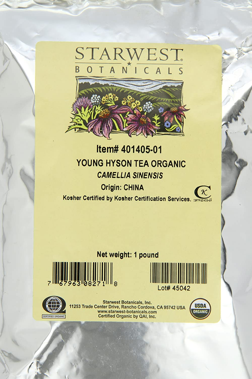 Amazon.com: Starwest Botanicals Organic Young Hyson Tea, 1-pound Bag: Health & Personal Care