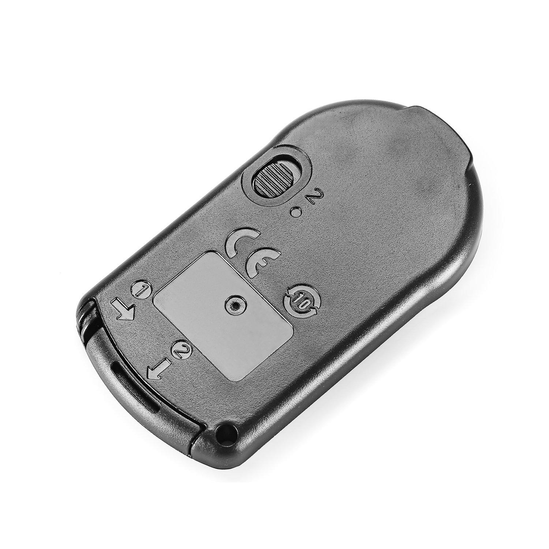 Neewer, Control remoto inalámbrico de disparador, infrarrojo, para Canon EOS 60D 70D 7D Rebel T5i, T4i, T3i, T2i, T1i, XSi, Xti, XT, SL1 / 700D 650D 600D ...