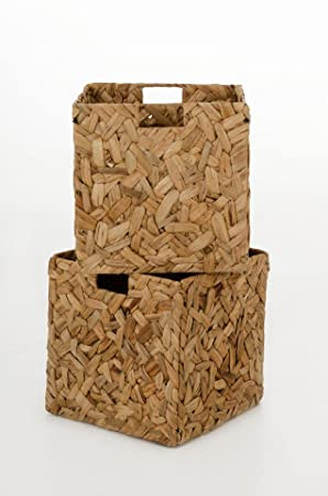 vivanno 2 wild shelf storage baskets water hyacinth for ikea expedit shelving unit natural viviano portiere arsenal