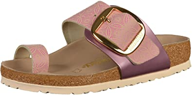 7d77a23edd82 Birkenstock Miramar Big Buckle Womens Ceramic Pattern Rose Leather Mules