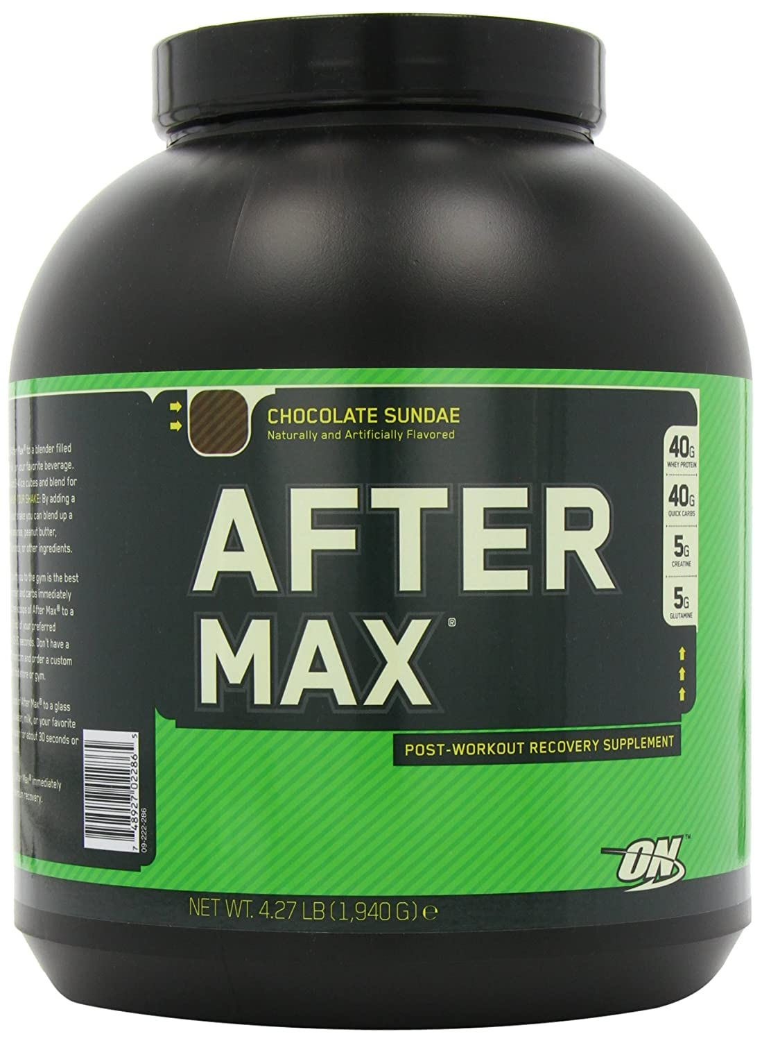 Amazon.com: Optimum Nutrition After Max Post-Workout Maximum Recovery, Chocolate Sundae, 4.27 Pound: Health & Personal Care