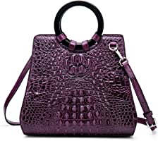 Designer Handbags for Women Crocodile Bag Genuine Leather Top Handle Bags