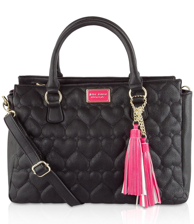 Betsey Johnson Perform NS Satchel Purse Bag Handbag Tote Be Mine