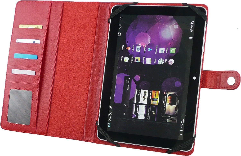 Emartbuy/® Schwarz Stylus Universalbereich Basic Case Cover Wallet Tasche H/ülle Schutzh/ülle mit Kartensteckpl/ätze Geeignet f/ür Gigaset QV1030 10.1 Inch Tablet