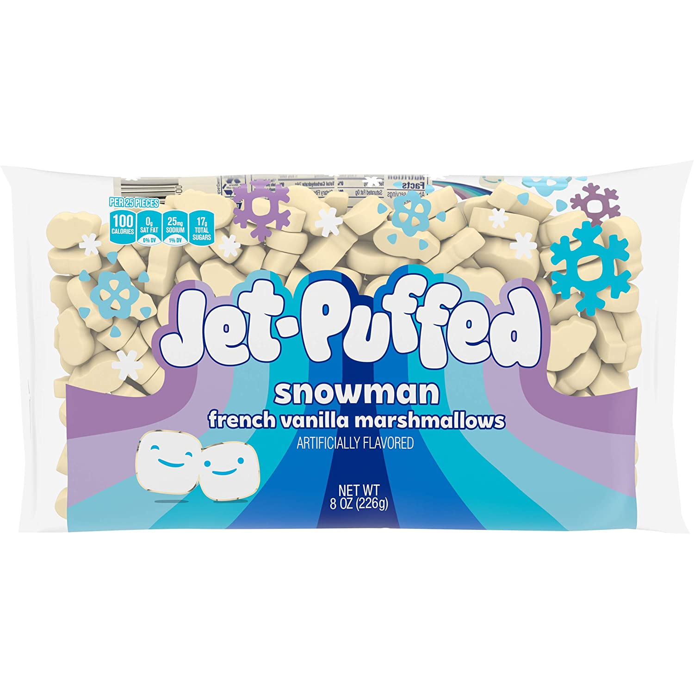 Jet-Puffed Snowman French Vanilla Marshmallows, 8 oz Bag