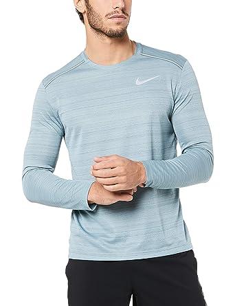 daebf47a Nike Men's Dri-fit Miler Long-sleeve Running Top: Amazon.co.uk: Clothing
