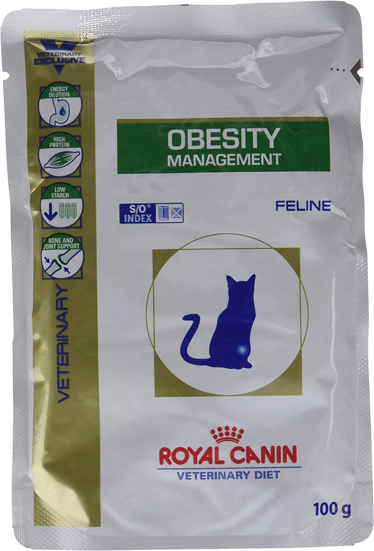 Royal Canin, Comida para gatos, Dieta veterinaria Canina, Obesity Management, 12x100g