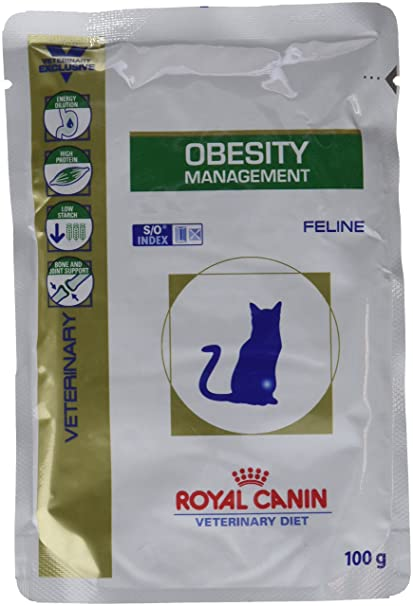 Royal Canin, Comida para gatos, Dieta veterinaria Canina, Obesity Management, 12x100g
