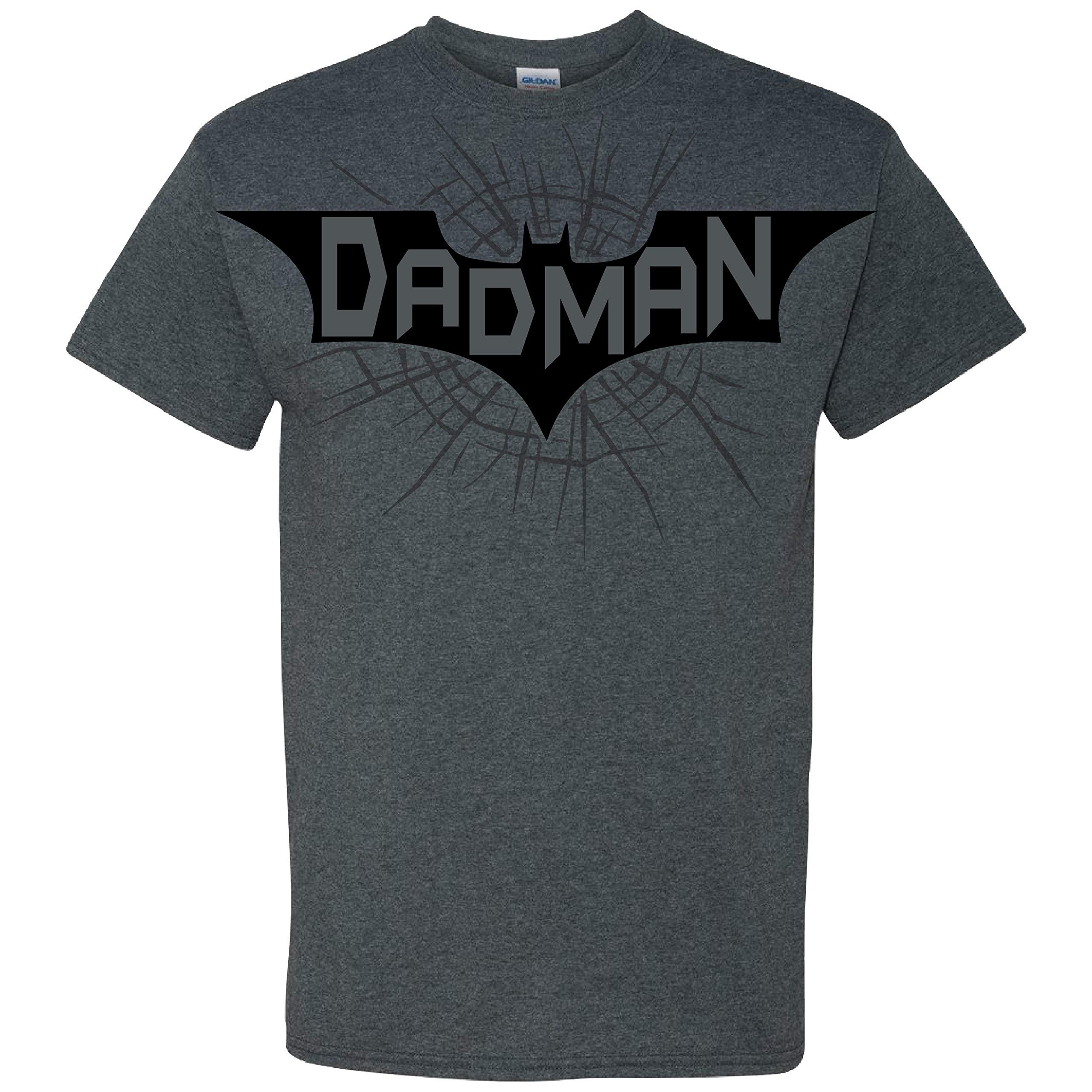 Dadman Distressed Vintage Print On A Dark Heather T Shirt