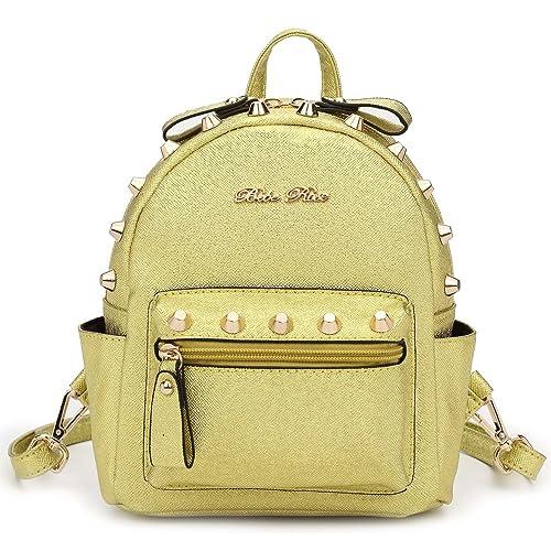 e551923e02 Hearty Trendy Signature Series Metallic Studded Mini Backpack - Metal Gold