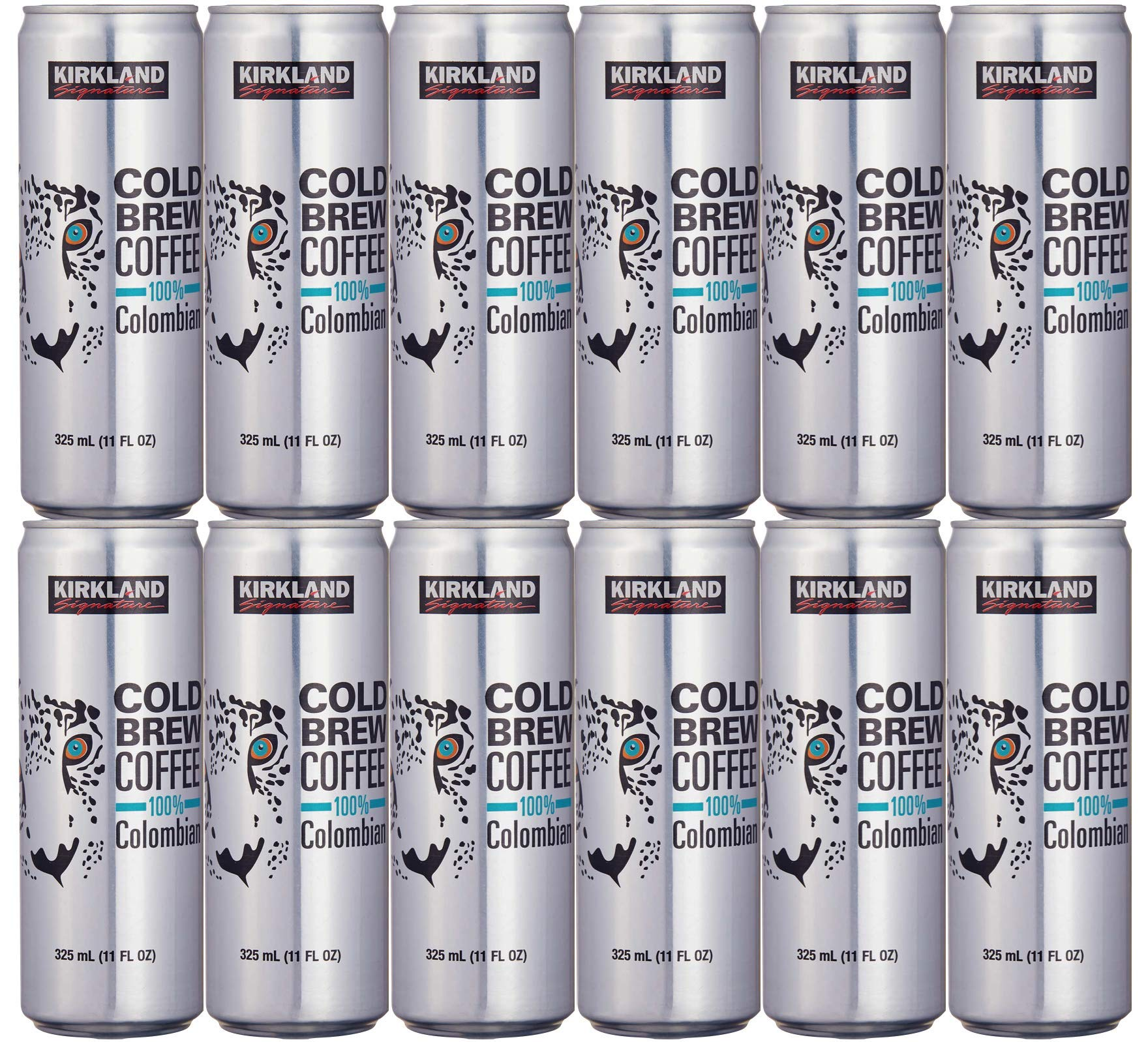 Cold Brew Coffee (Pack 12) 100% Colombian