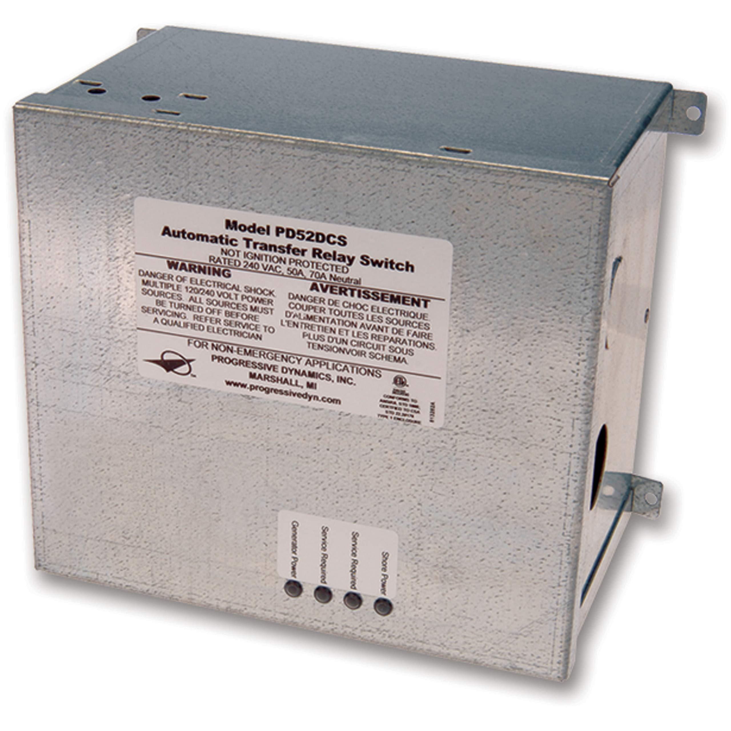 Progressive Dynamics PD52DCSV Transfer Switch Surge Protected