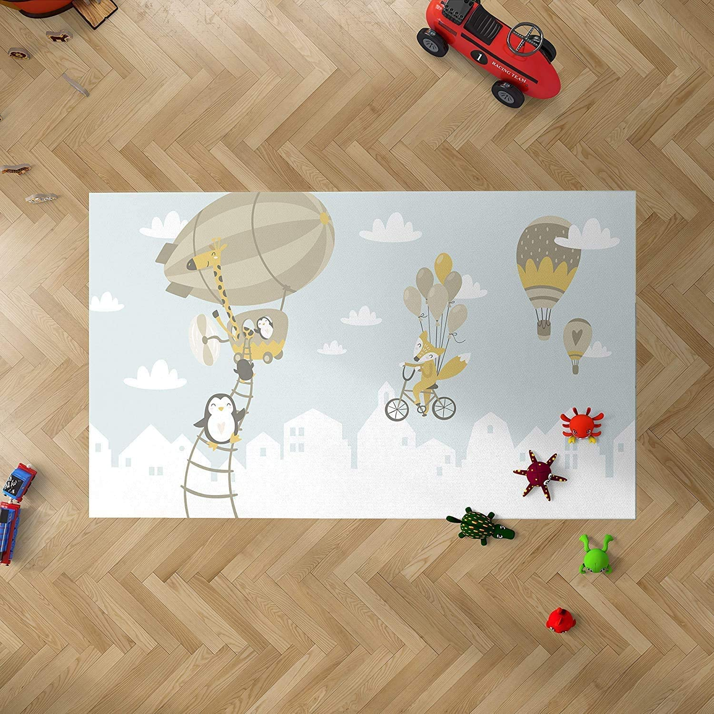 Decoraci/ón del Hogar Suelo vin/ílico Suelo Sintasol Suelo de Protecci/ón Infantil | Moqueta PVC 95 x 95 cm Oedim Alfombra Infantil Animales para Habitaciones PVC