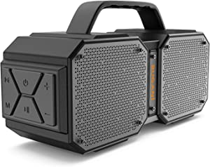 BUGANI Bluetooth Speaker, M83 Portable Bluetooth Speakers 5.0, 40W Super Power, Rich Woofer, Stereo Loud. Outdoor Bluetooth Speaker Suitable for Family Gatherings and Outdoor Travel