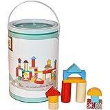 Betoys–Cubo de 100Bloques de construcción de Madera–Intemporel, Educativo y práctica–Colores, Multicolor