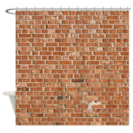 Image Unavailable Not Available For Color JKYUKO Polyester Brick Wall Shower Curtain