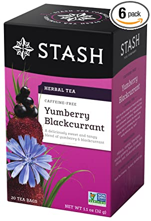 Stash Tea Yumberry Blackcurrant Herbal Tea, 10 bolsas de té ...
