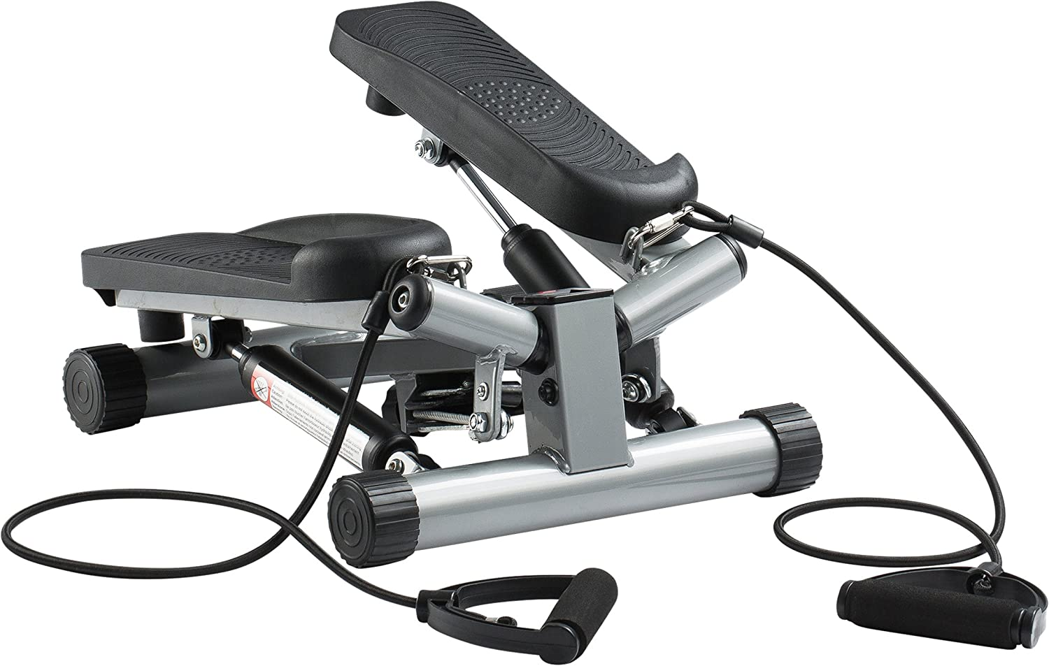 Ultrasport Swing Stepper inklusive Trainingsbändern / Hometrainer Stepper mit kabellosem Trainingscomputer - Up-Down-Stepper für Einsteiger und Trainierte - Mini Stepper