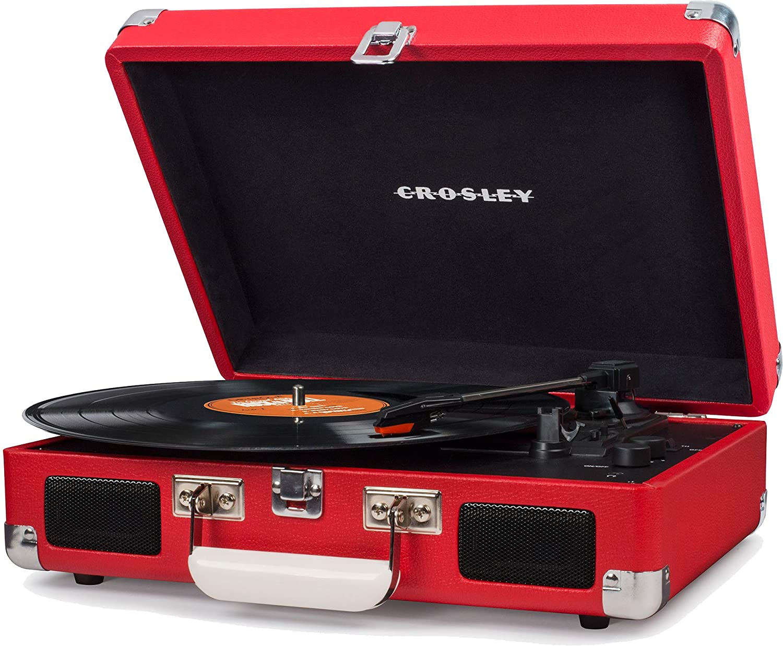 Crosley - Tocadiscos Portã¡Til Deluxe BT Rojo: Amazon.es ...