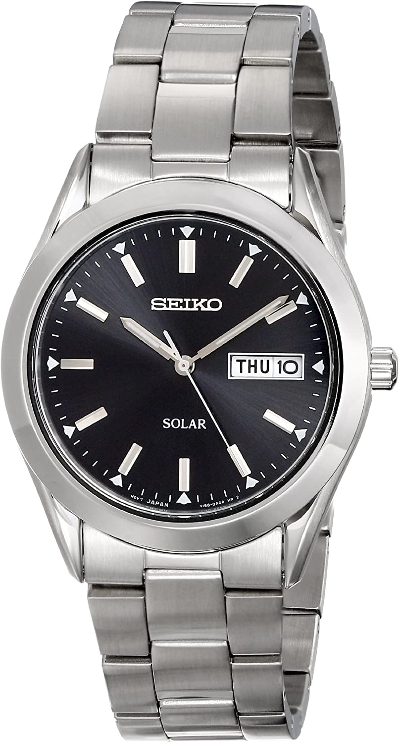Amazon.com: Seiko Men's SNE039 Stainless Steel Solar Watch: Seiko: Watches