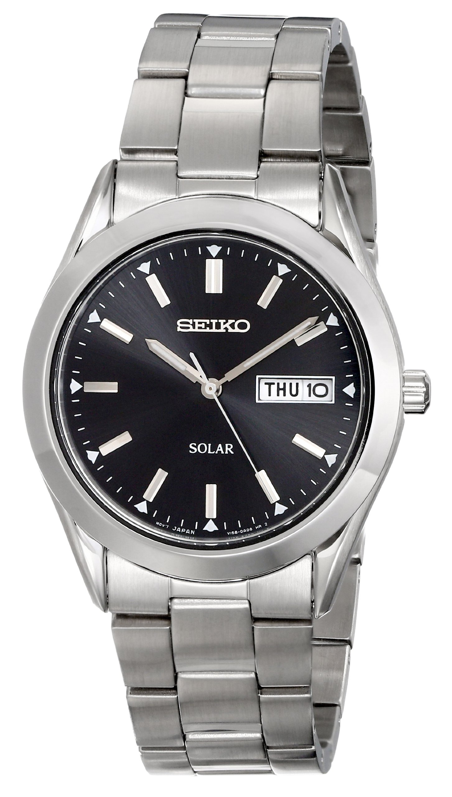 Seiko Men's SNE039 Stainless Steel Solar Watch