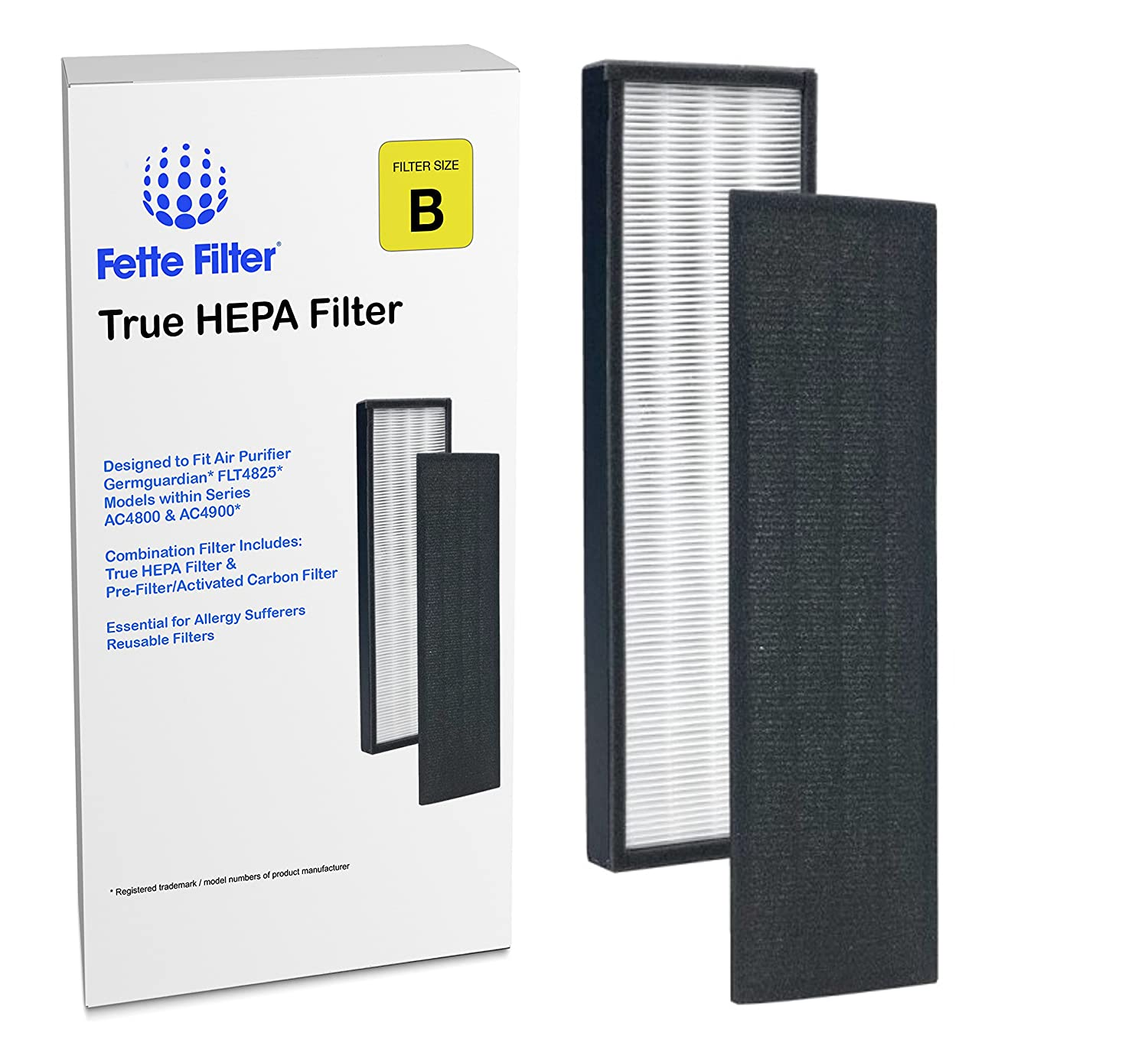 Amazon com  Fette Filter True HEPA Filter Compatible with GermGuardian  FLT4825 models AC4300 AC4800 4900 Series Air Purifiers  Filter B   Health    Personal. Amazon com  Fette Filter True HEPA Filter Compatible with