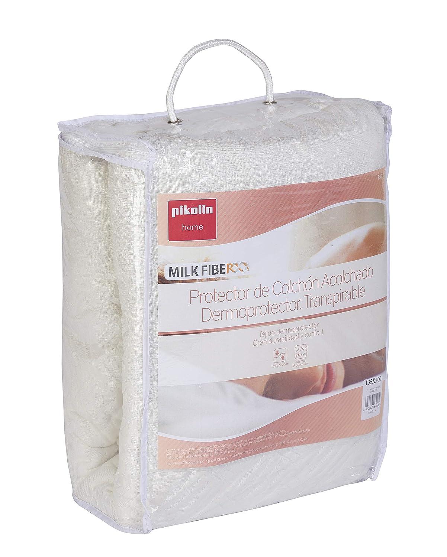 Pikolin Home - Protector de colchón acolchado cubre colchón, dermoprotector natural, 150 x 190/200 cm, cama 150 (Todas las medidas): Amazon.es: Hogar