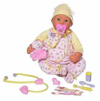 Windeln spielen 22 lebensechte braune Augen Baby Girl Puppe w Schnuller