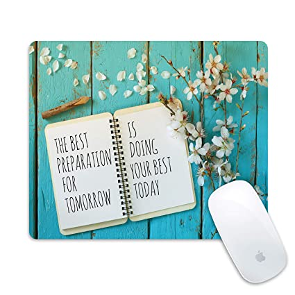 Wknoon Gaming Mouse Pad She Believed She Could So She Did Inspirational Quotes Vintage Floral Rustic Wood Motivational Quote Mouse Pads for Computers