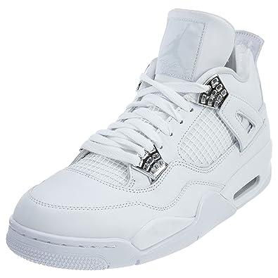best website ff1fd 4204d Jordan 4 Retro Mens Style: 308497-100 Size: 12.5 White/Metallic Silver