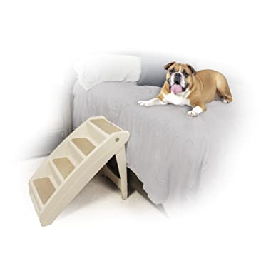 PetSafe Solvit PupSTEP Plus Pet Stairs, Foldable Steps for Dogs and Cats