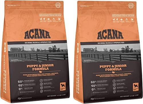 ACANA 2 Bags of Puppy Junior Dry Dog Food