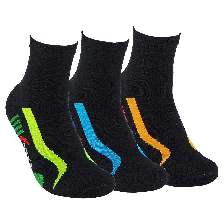 Calcetines SIN COSTURAS unisex con puntera y talón reforzados. Calcetines tobilleros de deporte. Anti-rozaduras y con gomas anti-presión.