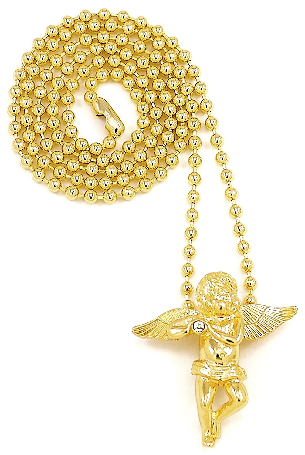 Amazon angel necklaces new small size gold color with 27 inch amazon angel necklaces new small size gold color with 27 inch ball style chain jewelry aloadofball Gallery