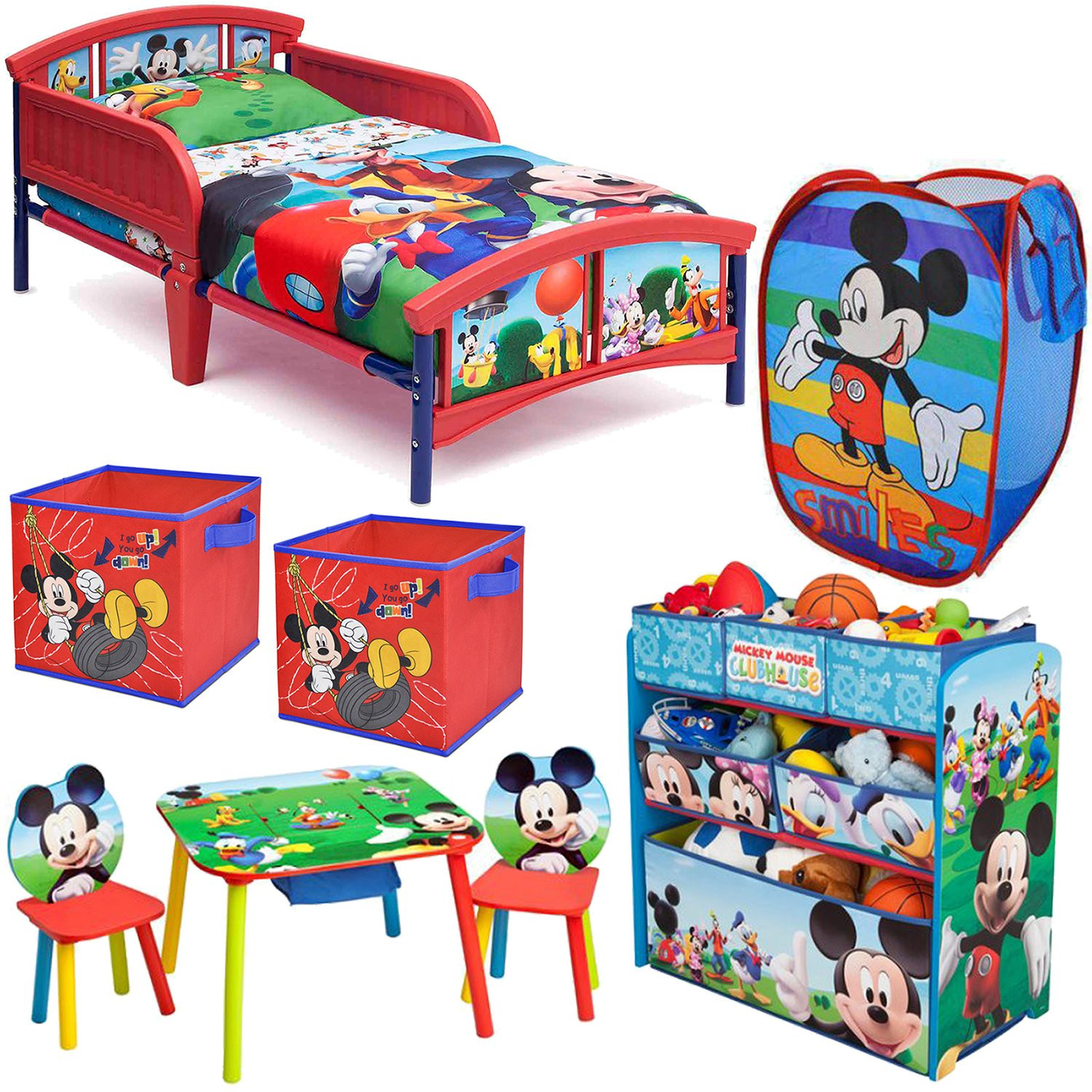 Superb Amazon.com: Disney Delta Children Mickey Mouse Clubhouse 8 Piece Furniture  Set   Plastic Toddler Bed, Multi Bin Toy Organizer, Table And Chair Set, ...