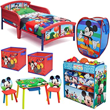 Disney Delta Children Mickey Mouse Clubhouse 8-Piece Furniture Set - Plastic Toddler Bed  sc 1 st  Amazon.com & Amazon.com: Disney Delta Children Mickey Mouse Clubhouse 8-Piece ...