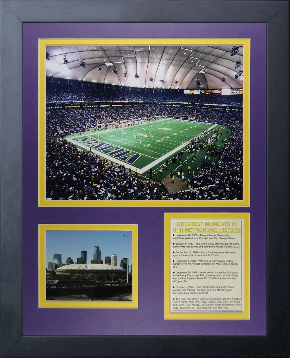 Legenden Sterben Nie Minnesota Vikings gerahmtes Foto Collage, 11 x ...