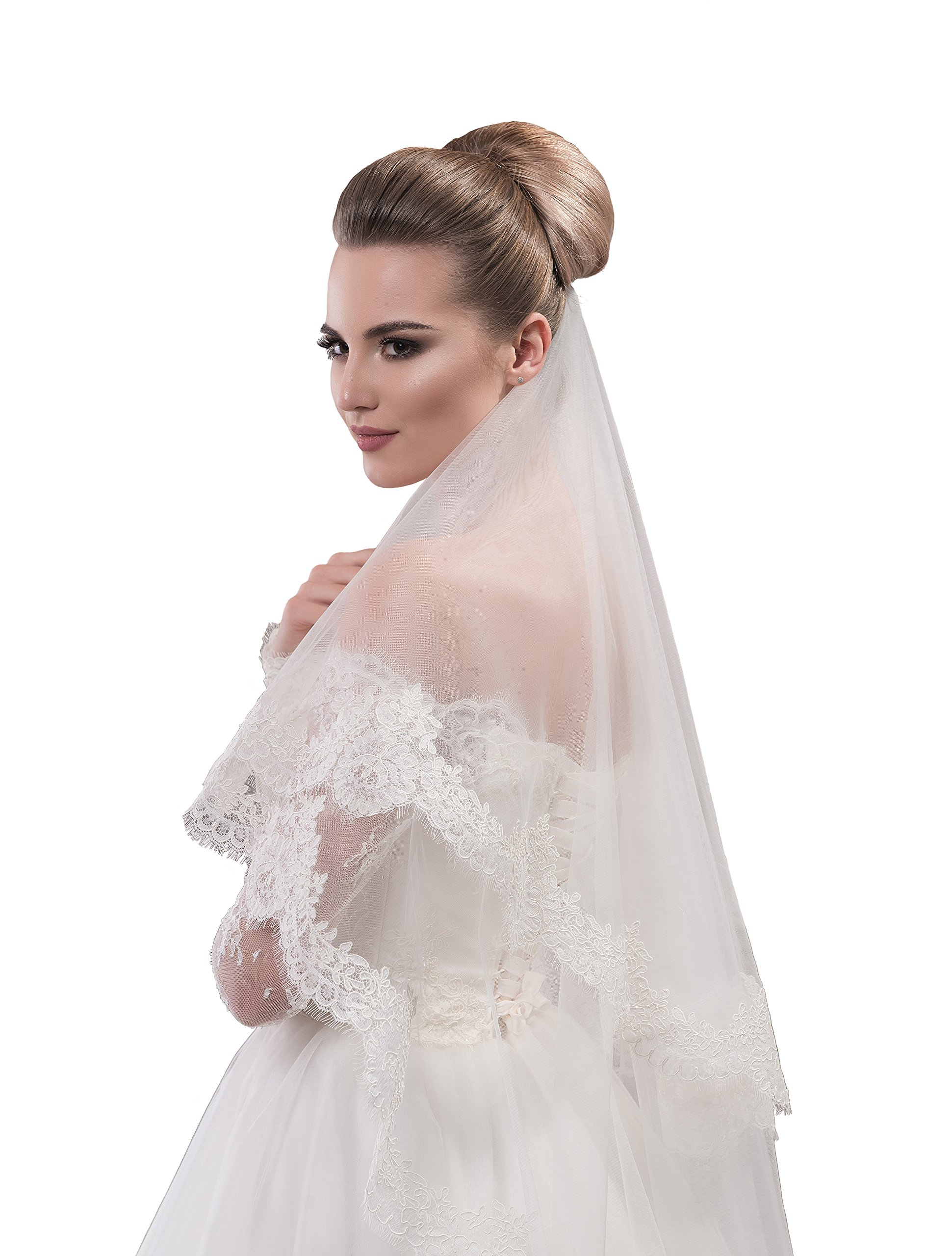 "Bridal Veil Janet from NYC Bride collection (short 30"", white)"