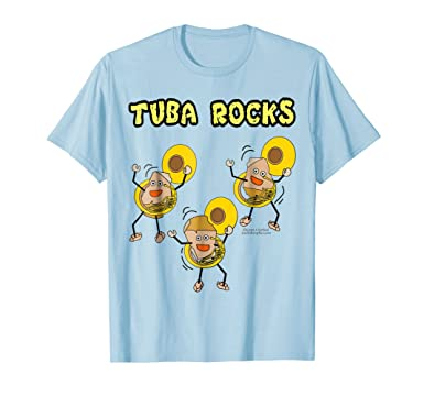 Amazon.com  Tuba Rocks Funny Sousaphone T-Shirt  Clothing e6d0c277b