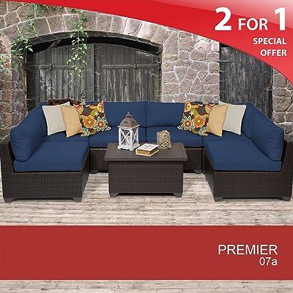 Amazon.com: Premier 7 piezas muebles de mimbre al aire ...