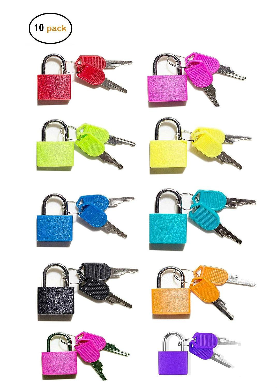 Vorhängeschloss Schlüssel 10 Stück Fujiang Bunt