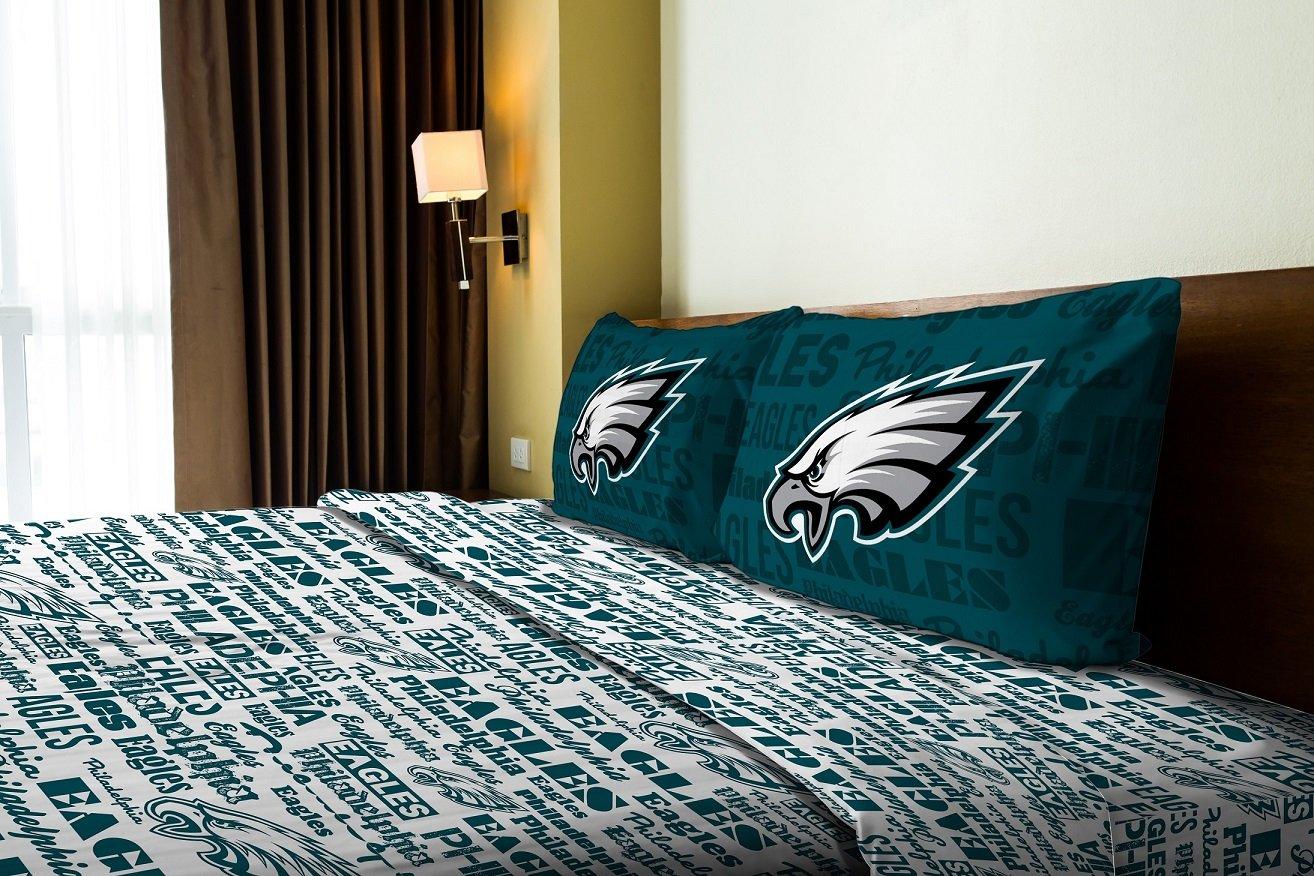 The Northwest Company Philadelphia Eagles Full Sheet Set Anthem Bed Sheets